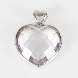 Stříbrný přívěsek se zirkonem srdce