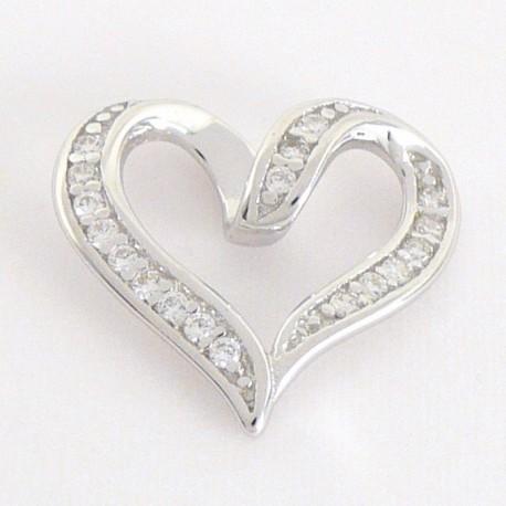 37cb0c0e0 Stříbrný přívěsek se zirkony srdce - Šperky Sypo - zlaté a stříbrné šperky  - perly