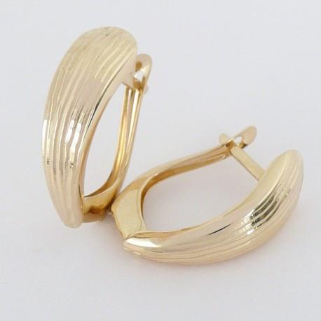 Zlaté náušnice gravírované