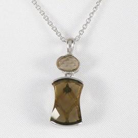 Stříbrný náhrdelník se záhnědou