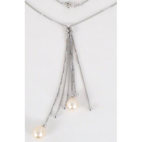 e9e2a33b7 Stříbrný náhrdelník s perlami - Šperky Sypo - zlaté a stříbrné šperky -  perly