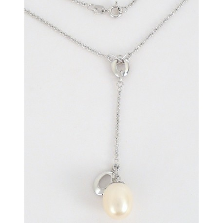e3f723662 Stříbrný náhrdelník s perlou - Šperky Sypo - zlaté a stříbrné šperky - perly
