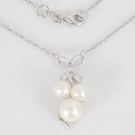 6b352fdea Stříbrný náhrdelník s perlami a zirkony - Šperky Sypo - zlaté a stříbrné  šperky - perly
