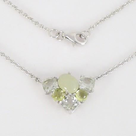 fb7094181 Stříbrný náhrdelník s polodrahokamy - Šperky Sypo - zlaté a stříbrné šperky  - perly