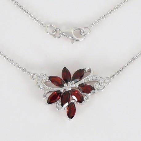 b46ca240a Stříbrný náhrdelník s granáty - Šperky Sypo - zlaté a stříbrné šperky -  perly