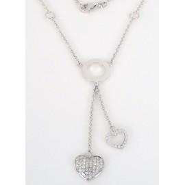 Stříbrný náhrdelník se zirkony srdce