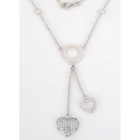 8fed206b0 Stříbrné šperky >Stříbrné náhrdelníky>Stříbrný náhrdelník se zirkony srdce. Stříbrný  náhrdelník se zirkony srdce