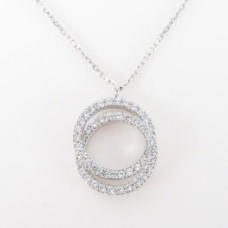 0744ad3fc Stříbrný náhrdelník se zirkony kruhy - Šperky Sypo - zlaté a stříbrné šperky  - perly