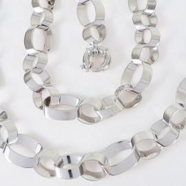 Stříbrná souprava náhrdelník a náramek
