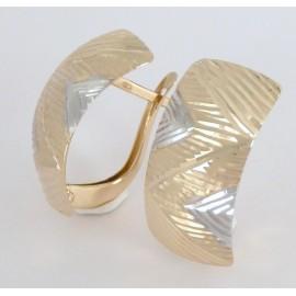 Zlaté náušnice tříbarevné
