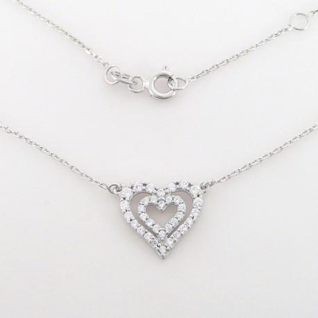 eefbd6af3 Zlatý náhrdelník se zirkony srdce - Šperky Sypo - zlaté a stříbrné šperky -  perly