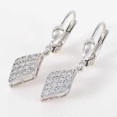 c8c78c8f9 Stříbrné náušnice se zirkony visací - Šperky Sypo - zlaté a stříbrné ...
