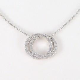 Stříbrný náhrdelník se zirkony kruhy