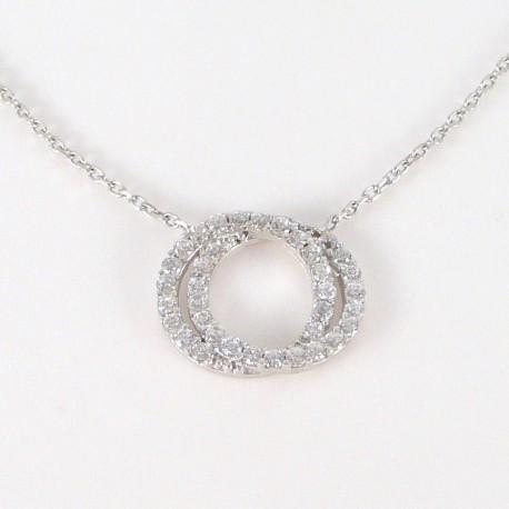 3fb3f0765 Stříbrné šperky >Stříbrné náhrdelníky>Stříbrný náhrdelník se zirkony kruhy. Stříbrný  náhrdelník se zirkony kruhy