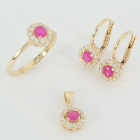 6fb1b70b4 Zlatá souprava se zirkony - Šperky Sypo - zlaté a stříbrné šperky - perly