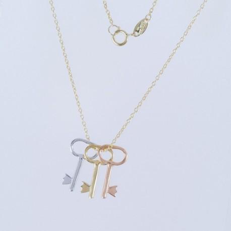 Zlatý náhrdelník klíč