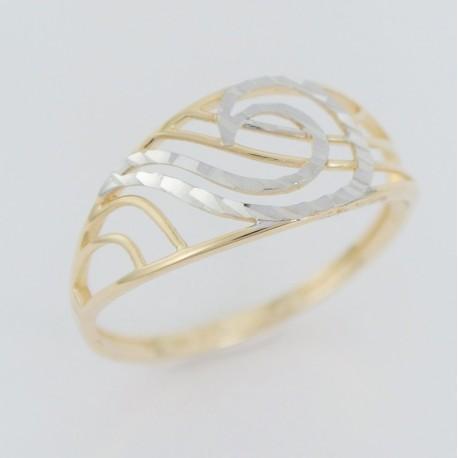 Zlatý prsten gravírovaný
