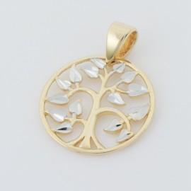 Zlatý přívěsek strom