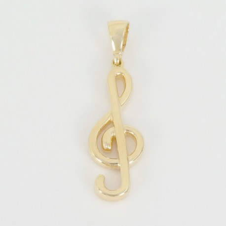 Zlatý přívěsek houslový klíč