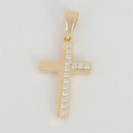 Zlatý přívěsek se zirkony křížek