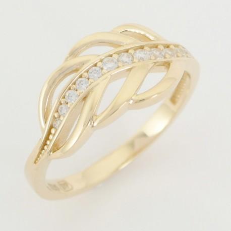 Zlatý prsten se zirkony - Šperky Sypo - zlaté a stříbrné šperky - perly d12f3ea4994