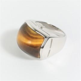Stříbrný prsten s tygřím okem