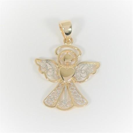 Zlatý přívěsek anděl