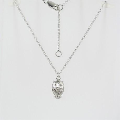 Stříbrný náhrdelník sova