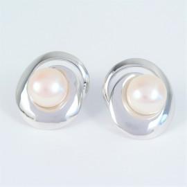 Stříbrné náušnice s perlami