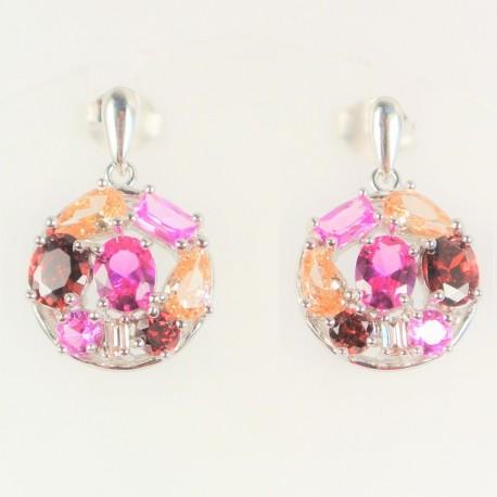 32888dd57 Stříbrné náušnice s korundy a zirkony - Šperky Sypo - zlaté a stříbrné  šperky - perly