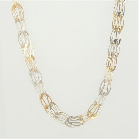 Zlatý náhrdelník dvoubarevný