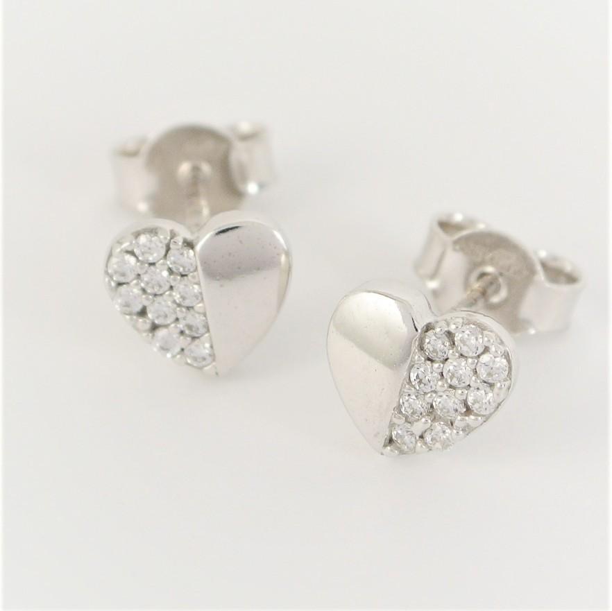 32328f0c9 Zlaté náušnice srdce se zirkony - Šperky Sypo - zlaté a stříbrné šperky -  perly
