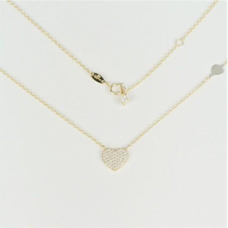 edda903f4 Zlatý náhrdelník se zirkony srdce - Šperky Sypo - zlaté a stříbrné ...