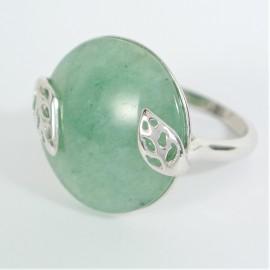 Stříbrný prsten se zeleným avanturinem