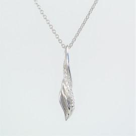 Stříbrný náhrdelník se zirkony