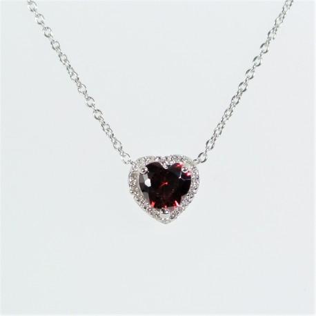 5619408f9 Stříbrný náhrdelník se zirkony srdce - Šperky Sypo - zlaté a ...