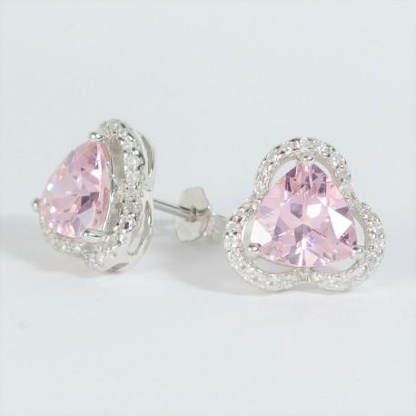 7595d4abb Stříbrné náušnice s růžovými zirkony - Šperky Sypo - zlaté a stříbrné šperky  - perly
