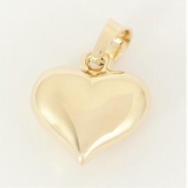 Zlatý přívěsek srdce