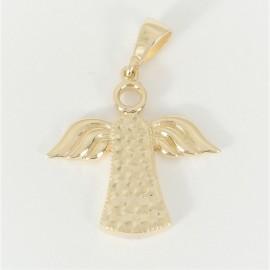 Zlatý přívěsek gravírovaný anděl