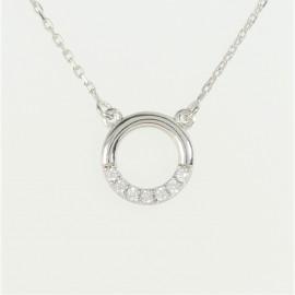 Zlatý náhrdelník se zirkonem kruh