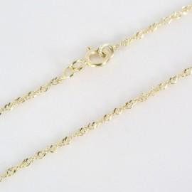 Zlatý řetízek lambada 50cm