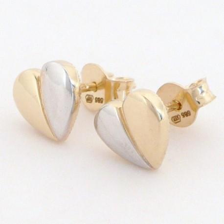 9b81b443f Zlaté náušnice srdce - Šperky Sypo - zlaté a stříbrné šperky - perly