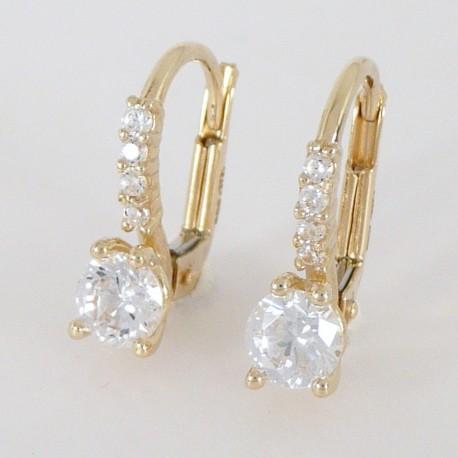 a6f1b4760 Zlaté náušnice se zirkony - Šperky Sypo - zlaté a stříbrné šperky ...