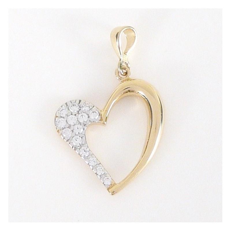 cfbe8e5fd Zlatý přívěsek se zirkony srdce - Šperky Sypo - zlaté a stříbrné ...