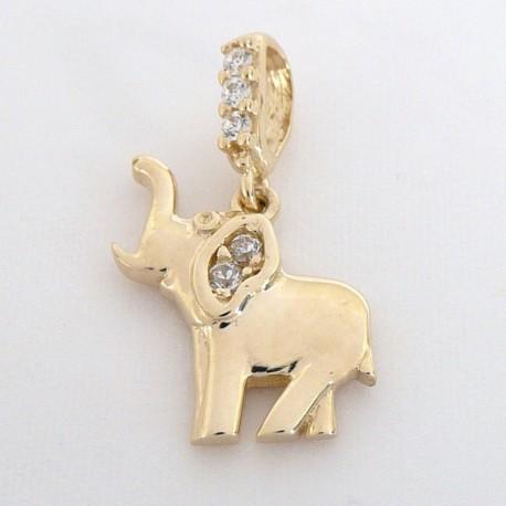 Zlatý přívěsek slon