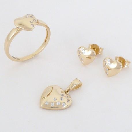5b5d5dd6a Zlatá souprava se zirkony srdce - Šperky Sypo - zlaté a stříbrné šperky -  perly