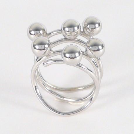 Stříbrný prsten s kuličkami - Šperky Sypo - zlaté a stříbrné šperky ... 82663a67faf