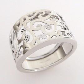 Stříbrný prsten gravírovaný