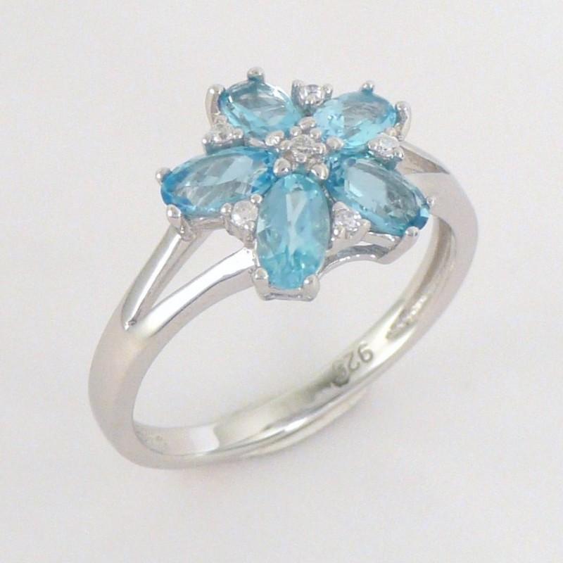 bc985ebaf Stříbrný prsten s topazy a zirkony - Šperky Sypo - zlaté a stříbrné ...