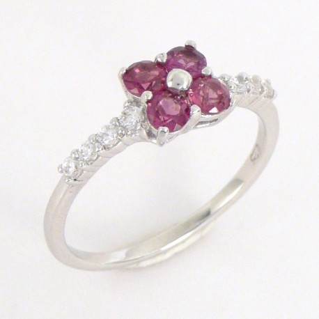 Stříbrný prsten s rhodality
